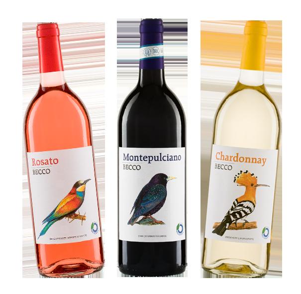Becco Weinauswahl Rosato, Montepulciano und Chardonnay