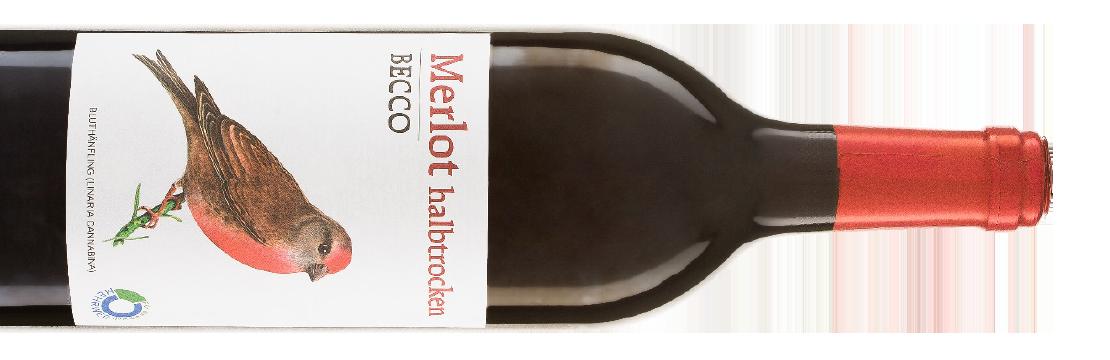 Merelot halbtrocken Becco Rotwein