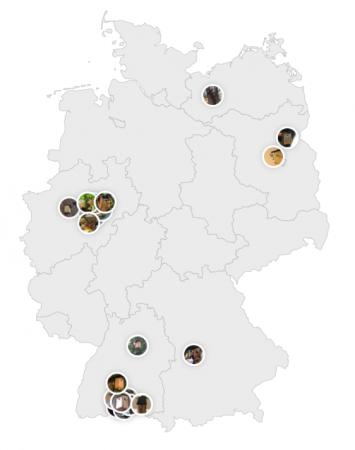 Deutschlandkarte Nistkästen